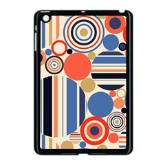 Geometric Abstract Pattern Colorful Flat Circles Decoration Apple Ipad Mini Case (black) by Vaneshart