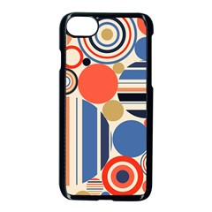 Geometric Abstract Pattern Colorful Flat Circles Decoration Iphone 7 Seamless Case (black) by Vaneshart