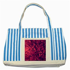 Triangulation Patterns Striped Blue Tote Bag by Vaneshart