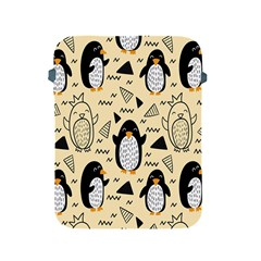 Hand Drawn Penguin Doodle Pattern Apple Ipad 2/3/4 Protective Soft Cases