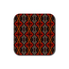 Seamless Digitally Created Tilable Abstract Pattern Rubber Square Coaster (4 Pack)