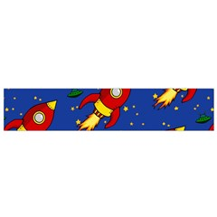 Space Rocket Pattern Small Flano Scarf