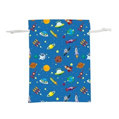 Space Rocket Solar System Pattern Lightweight Drawstring Pouch (s)
