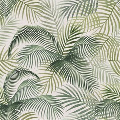 Vector Palm Leaves Pattern  Illustration Magic Photo Cube by Vaneshart
