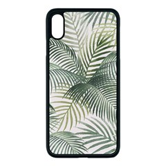 Vector Palm Leaves Pattern  Illustration Iphone Xs Max Seamless Case (black) by Vaneshart