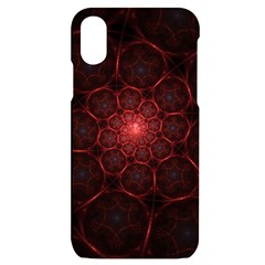 Fractal Spiral Depth Light Red Swirling Lines Iphone X/xs Black Uv Print Case