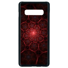 Fractal Spiral Depth Light Red Swirling Lines Samsung Galaxy S10 Plus Seamless Case (black)