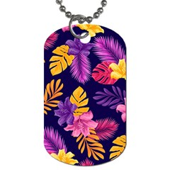 Tropical Pattern Dog Tag (two Sides) by Vaneshart