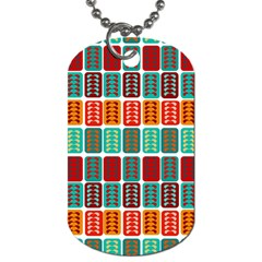 Bricks Abstract Seamless Pattern Dog Tag (two Sides)