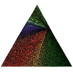 Abstract Colorful Pieces Mosaics Wooden Puzzle Triangle