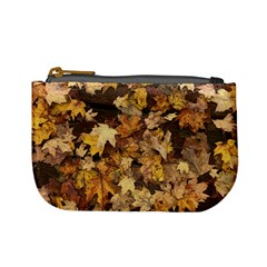Late October Leaves 3 Mini Coin Purse by bloomingvinedesign