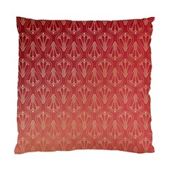 Red Gold Art Decor Standard Cushion Case (two Sides)