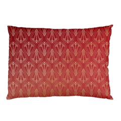 Red Gold Art Decor Pillow Case (two Sides)