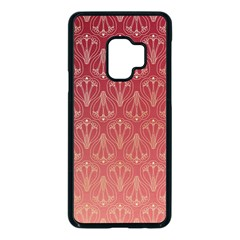 Red Gold Art Decor Samsung Galaxy S9 Seamless Case(black) by HermanTelo