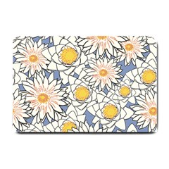 Flowers Pattern Lotus Lily Small Doormat  by HermanTelo