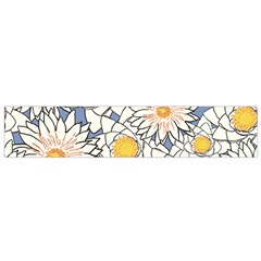 Flowers Pattern Lotus Lily Small Flano Scarf