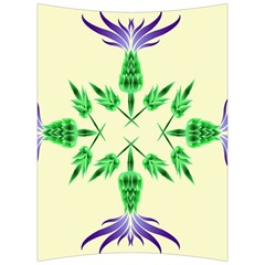 Thistle Flower Purple Thorny Flora Back Support Cushion
