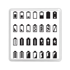 Battery Icons Charge Memory Card Reader (square)