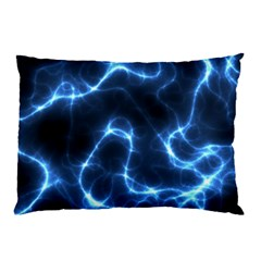 Lightning Electricity Pattern Blue Pillow Case