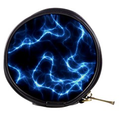 Lightning Electricity Pattern Blue Mini Makeup Bag by Mariart