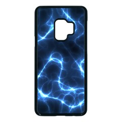 Lightning Electricity Pattern Blue Samsung Galaxy S9 Seamless Case(black) by Mariart