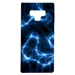 Lightning Electricity Pattern Blue Samsung Galaxy Note 9 Tpu Uv Case