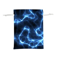 Lightning Electricity Pattern Blue Lightweight Drawstring Pouch (l)