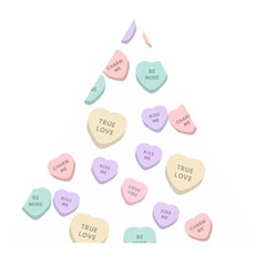 Hearts Wooden Puzzle Triangle