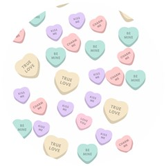 Hearts Wooden Puzzle Round by Lullaby