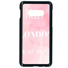 Paris, London, New York Samsung Galaxy S10e Seamless Case (black)