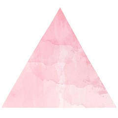 Pink Blurry Pastel Watercolour Ombre Wooden Puzzle Triangle