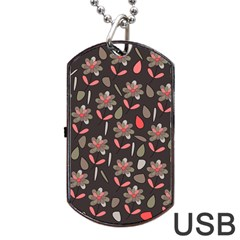 Zappwaits Flowers Dog Tag Usb Flash (two Sides) by zappwaits