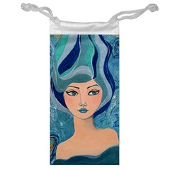 Blue Girl Jewelry Bag by CKArtCreations
