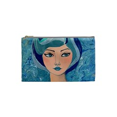 Blue Girl Cosmetic Bag (small) by CKArtCreations