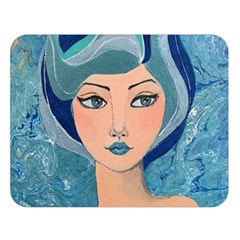 Blue Girl Double Sided Flano Blanket (large)  by CKArtCreations