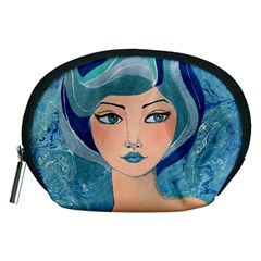 Blue Girl Accessory Pouch (medium) by CKArtCreations