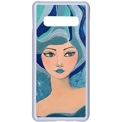 Blue Girl Samsung Galaxy S10 Plus Seamless Case(white) by CKArtCreations