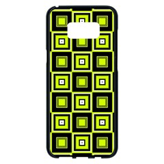 Green Pattern Square Squares Samsung Galaxy S8 Plus Black Seamless Case