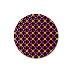 Pattern Colorful Texture Design Rubber Round Coaster (4 Pack)