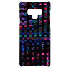 Stripes Background Black Colorful Samsung Note 9 Black Uv Print Case  by Simbadda