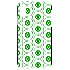 White Background Green Shapes Iphone Xr Black Uv Print Case