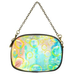 Bubbles Blue Floating Air Chain Purse (two Sides) by Simbadda