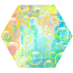 Bubbles Blue Floating Air Wooden Puzzle Hexagon by Simbadda