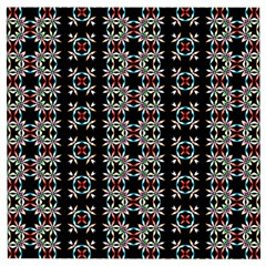 Pattern Black Background Texture Art Wooden Puzzle Square by Simbadda