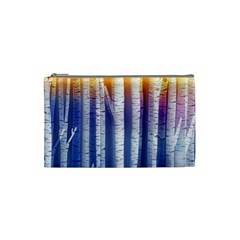 Birch Tree Background Scrapbooking Cosmetic Bag (small) by Simbadda