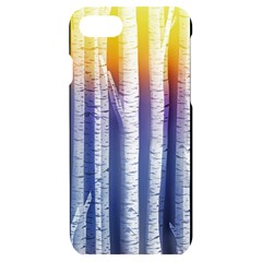 Birch Tree Background Scrapbooking Iphone 7/8 Black Uv Print Case by Simbadda