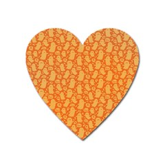 Halloween Background Heart Magnet by Simbadda