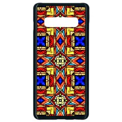 Stained Glass Pattern Texture Samsung Galaxy S10 Plus Seamless Case (black)