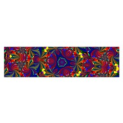 Kaleidoscope Pattern Ornament Satin Scarf (oblong) by Simbadda