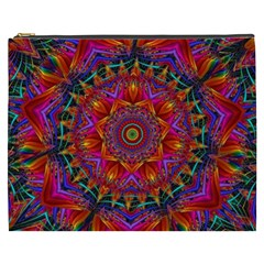 Kaleidoscope Pattern Ornament Cosmetic Bag (xxxl) by Simbadda